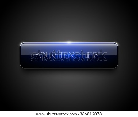 Vector colorful glossy banner, web button