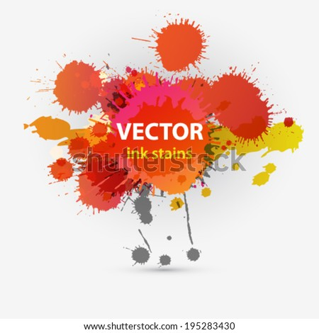 Vector colorful grunge stains background