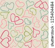 vector colorful hearts pattern - Separate layers for easy editing - stock vector