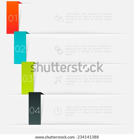 Vector colorful info graphics, trendy colors. Vector illustration can be used for workflow layout, diagram, number options, web design. - stock vector