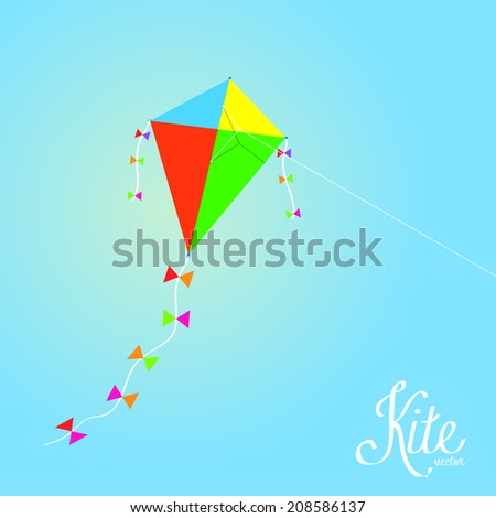 Vector Colorful Kite Isolated On Background
