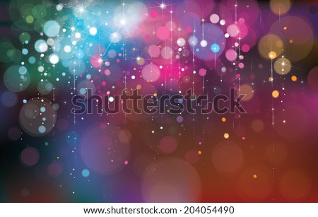 Vector colorful lights background. - stock vector