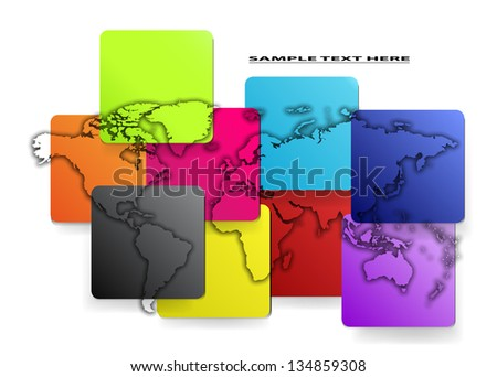 Vector colorful map of the world.