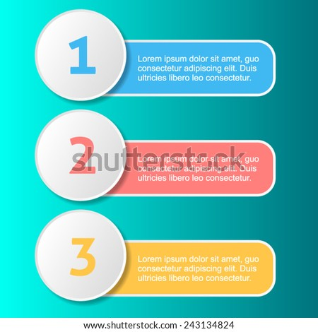 Vector colorful one two three options progress banners - stock vector
