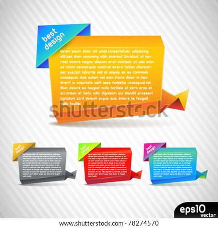 Vector colorful paper stickers - stock vector