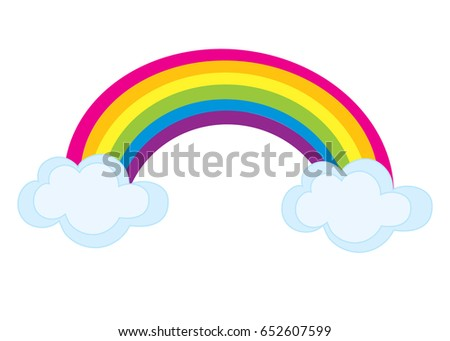 vector colorful rainbow clouds rainbow clipart stock vector 2018 rh shutterstock com clipart of rainbow and sun clipart of rainbow and sun