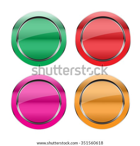 Vector colorful  round buttons
