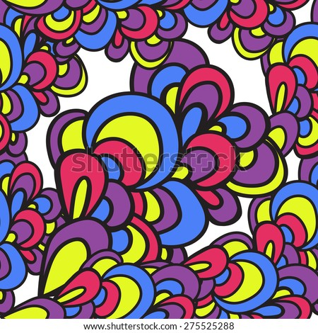 Vector colorful seamless pattern. Wavy abstract bright pattern. Can be used for textile, wallpaper, wrapping.