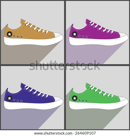 vector colorful sneakers