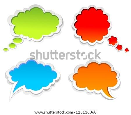 Vector colorful speech bubbles - stock vector