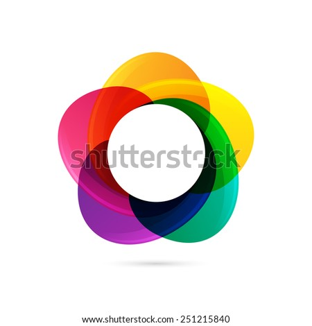 Vector colorful star logo icon, design template element - stock vector
