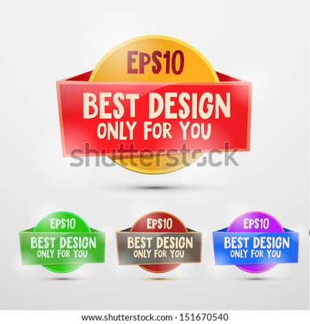 Vector colorful stickers for design - stock vector