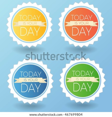 Vector colorful stickers set. Modern badges collection