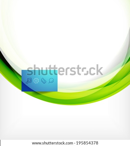 Vector colorful swirl motion design concept. Can be used as web templates, business illustration, technology presentation layout - stock vector