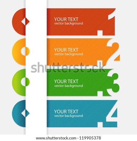 Vector colorful text box - stock vector