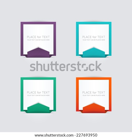 Vector colorful text box, trendy colors. Vector illustration can be used for workflow layout, diagram, number options, web design. - stock vector