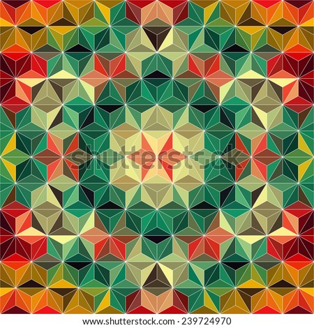 Vector Colorful Triangle Background - stock vector