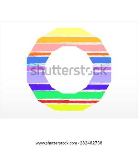 Vector colorful wooden background - stock vector