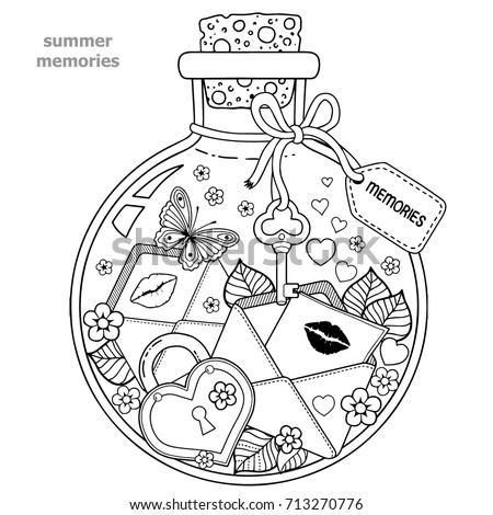 Coloring Pages Of Flowers And Hearts And Butterflies