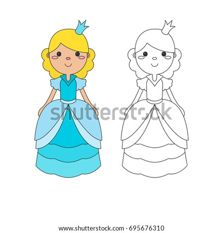 Vector Coloring Book Children Coloring Page Stock Vector 695676310 ...