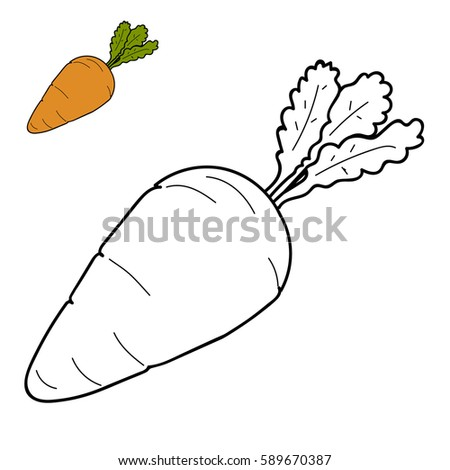 Kids Drawing Carrot Stock Images Royalty Free Images Vectors
