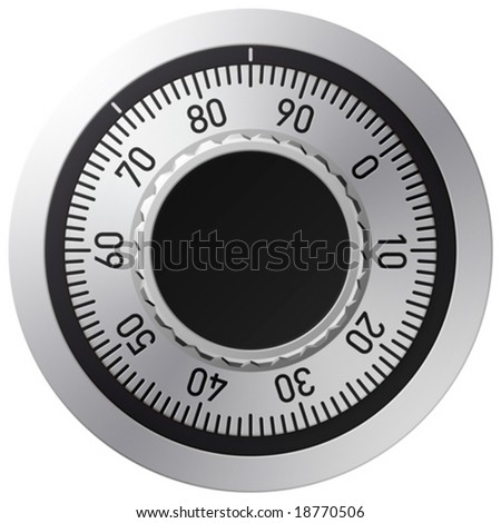 Vector combination lock - stock vector