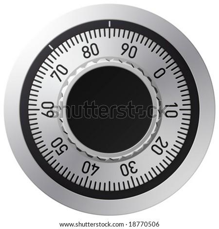 Vector combination lock - stock vector
