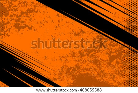 Vector Comic Book and Journal Background. Comic Book and Journal Orange Grunge Background and Texture. Vector Illustration with Halftone Dots for Comic Book and Journal - stock vector