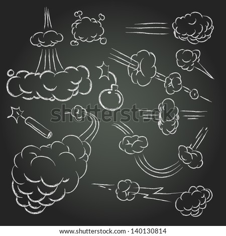Vector comic book explosion elements - stock vector