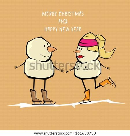 Comic merry christmas