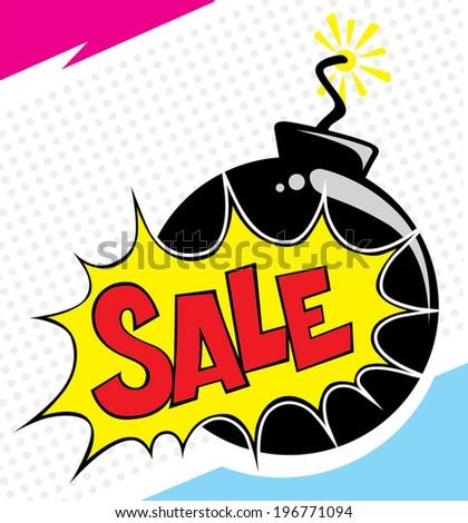 vector comic sale effect - stock vector