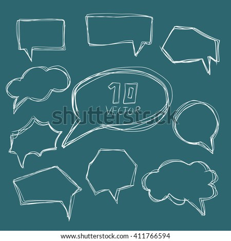 vector comic speech bubbles set Isolated on background
