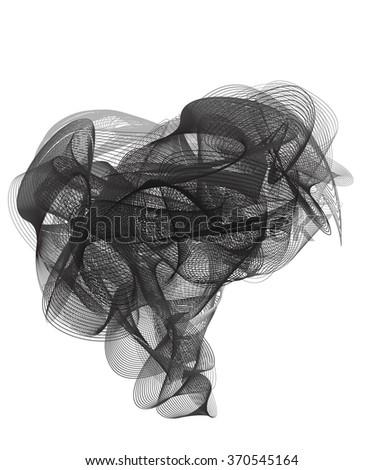 Vector Comical Speech Bubbles abstract design - stock vector
