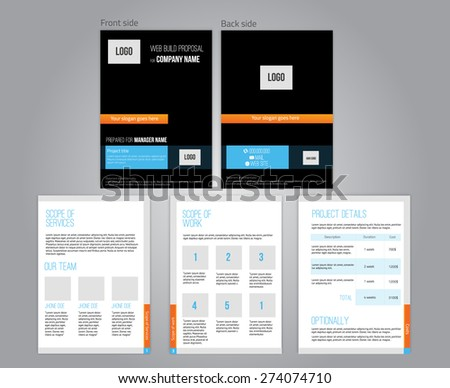 Vector commercial proposal design template your stock vector vector commercial proposal design template for your business in dark colors eps10 accmission Images