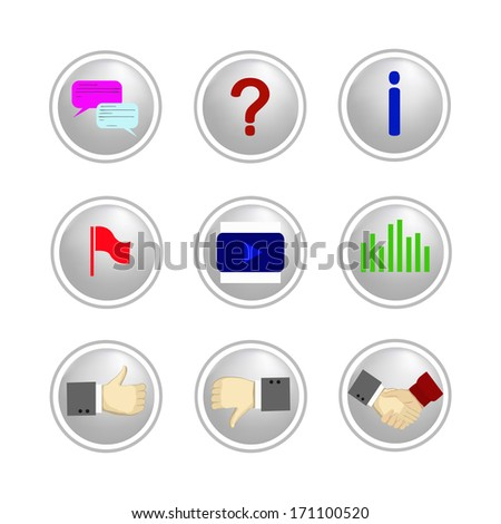 vector communication icons - stock vector