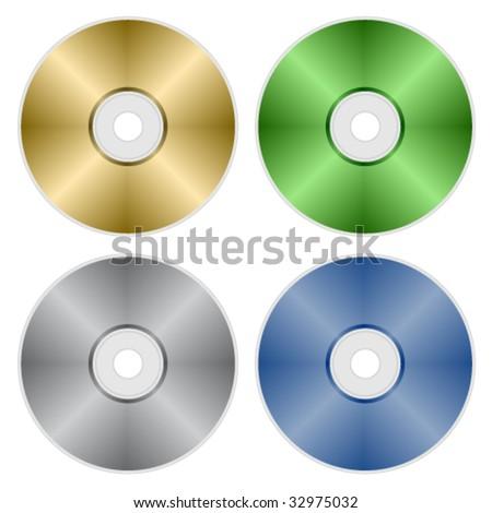 vector compact discs - stock vector