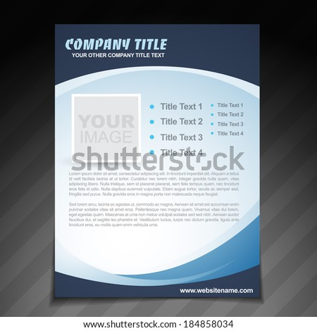 vector company flyer brochure design - stock vector