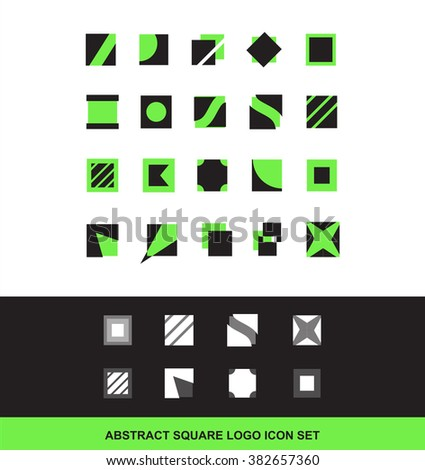 Vector company logo icon element template square abstract for mobile games and apps advertising media communication