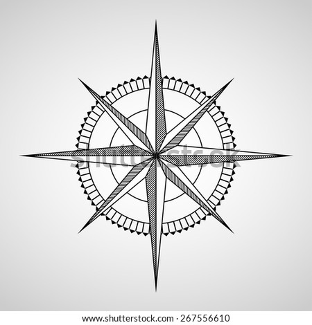 Vector compasses icon. Wind rose, EPS 10 - stock vector
