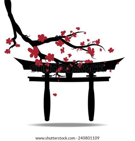 torii gate tattoo - 450×470
