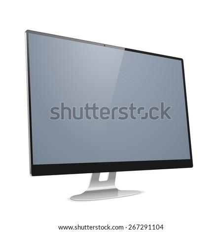 Vector Computer Display - stock vector