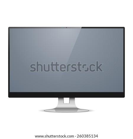Vector Computer Monitor - stock vector
