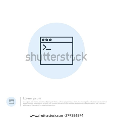 vector Computer programming code icon thin line for web and mobile, modern minimalistic flat design. Vector outline icon and offset colour on light white background - stock vector