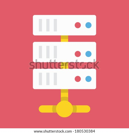 Vector Computer Server Icon - stock vector