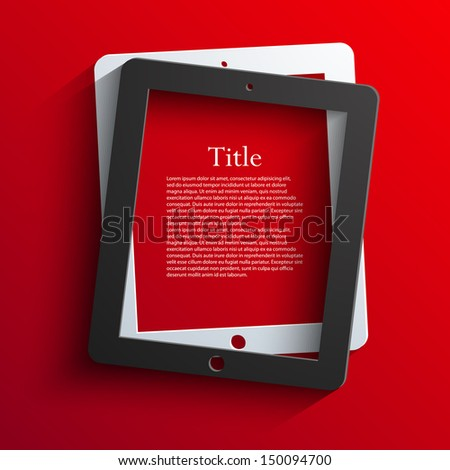 vector computer tablet background. Eps10 - stock vector