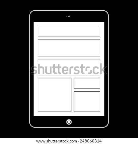 Vector computer tablet.  Illustration Similar To iPad - stock vector