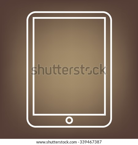 Vector computer tablet line icon