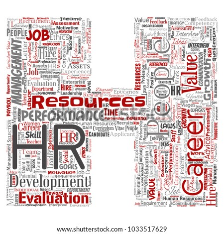 vector concept conceptual hr human resources stock vector