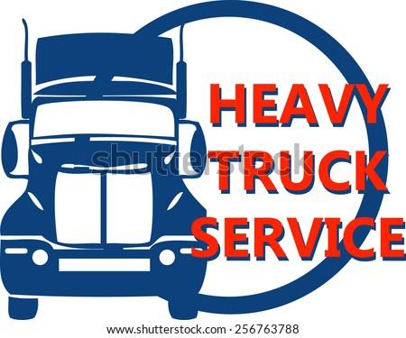 vector concept design hevy truck automobile trade service - stock vector