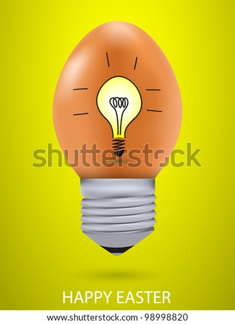 Vector concept easter egg with light bulb. Eps10 - stock vector